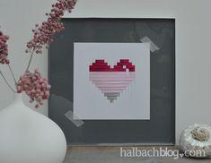 halbachblog I DIY I Valentinstag I Bänder rosa, pink, grau I Papier I gewebtes Herz