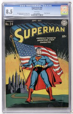 Superman #24 (DC, 1943) CGC VF+ 8.5 White pages.