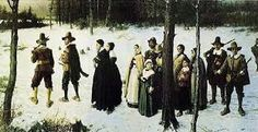 When Christmas Was Banned in Boston by Rebecca Beatrice Brooks [Pilgrims Going to Church painting by George Henry Boughton Van Gogh, George Henry, May Flowers, Early American, In Boston, Poster Size Prints, American History, The Book, Canvas Prints