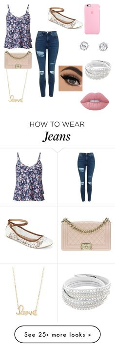"""""""Floral and Jeans"""" by stylin-wildin on Polyvore featuring Miss Selfridge, Topshop, Call it SPRING, Chanel, Sydney Evan and Lime Crime"""