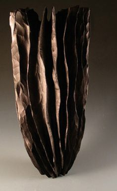 Marc Ricourt | 'Vase sculpture No 13.  Maple and black pigments