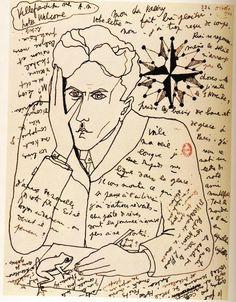 Jean Cocteau :: Self Portrait, 1924