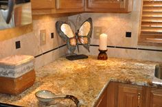 Sketch of Kitchen with River Gold Granite – Luxurious Accent