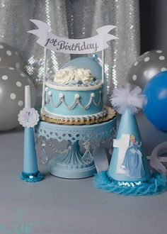 Cinderella Princess Disney Princess by PrettyLittleWedding on Etsy, $2.62 Cinderella Princess, Cinderella Birthday, Birthday Hats, 1st Birthday Parties, Pinkie Pie, Fancy Cakes, Perfect Party, Party Ideas, Decorations