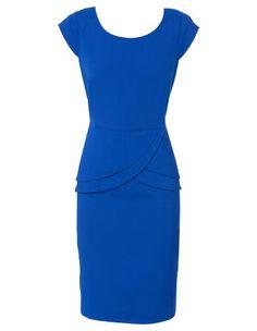 BASQUE Blue peplum work dress @ myer_mystore