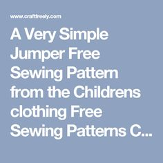 A Very Simple Jumper Free Sewing Pattern from the Childrens clothing Free Sewing Patterns Category