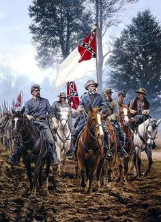 Today (March is Confederate Flag Day. On this day in President Jefferson Davis signed a Bill into Law making the National Flag the Official Flag of the Confederate States of America. Military Art, Military History, American War, American History, Civil War Art, Southern Heritage, Confederate Flag, Confederate Monuments, America Civil War