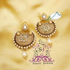 Pearl Chaand Baali Earrings