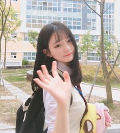 Cute Korean Girl, Cute Asian Girls, Beautiful Asian Girls, Cute Girls, Cool Girl, Ulzzang Hair, Uzzlang Girl, Korean Aesthetic, School Looks