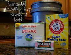 "Save ""loads"" of money making your own laundry soap!  Full post w/ pictures so you know exactly how to do it!  {love this!}"
