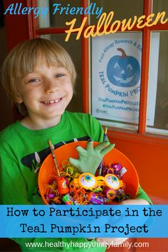 Allergy Friendly Halloween Treats - Participating in the Teal Pumpkin Project - Tips for Teal Pumpkin - Treat Ideas