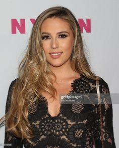 Fashion Model Sophia Rose Stallone attends NYLON Magazine's annual Young Hollywood May issue Event at HYDE Sunset: Kitchen + Cocktails on May 2016 in West Hollywood, California. Hollywood California, West Hollywood, Dress Red, Yellow Dress, Sophia Rose Stallone, Nylons, Dark Blonde Hair, Hyde, Daughters