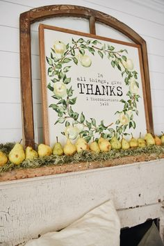 Don't over complicate your fall decor. This article shares a simple fall decor take using fruit and a focal point in a space. Thanksgiving Decorations, Christmas Themes, Seasonal Decor, Fall Decor, Thanksgiving Ideas, Holiday Crafts, Autumn Garden, Autumn Home, Autumn Mantel