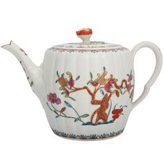 1stdibs - Rare+First+Period+Worcester+Porcelain+Barrel+Shape+teapot explore items from 1,700+ global dealers at 1stdibs.com