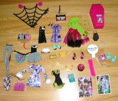 Lot Of Monster High Doll Clothes, shoes & Accessories BRAND NEW #Mattel