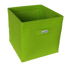 Grüner Filzkorb. Dieser praktische Regalkorb aus Filz passt perfekt.