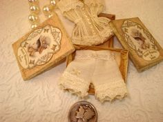 Mini vintage bloomers and corset