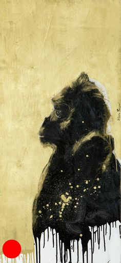 Black and gold Gorilla by Naama Segal