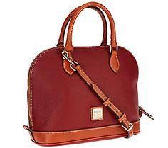 Dooney & Bourke Pebble Leather Zip Zip Satchel