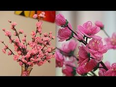 French beaded flowers: Cherry Blossoms PART 2 - YouTube