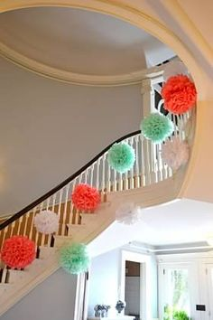 To modern i like the roses i just feel like there is nothing indoor plan b pom decorated staircase junglespirit Images
