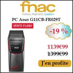 #missbonreduction; Vente Flash : économisez 19 % sur le PC Asus G11CB-FR029T chez FNAC.http://www.miss-bon-reduction.fr//details-bon-reduction-FNAC-i329-c1832512.html