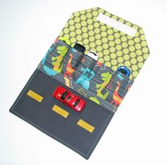 Toy Car Wallet - Holds 5 of your childs favorite cars Dino Dudes in Gray. $15.00, via Etsy.