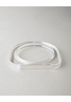 MM6 by Maison Martin Margiela / Plexi Bracelet   La Garçonne - Bracelet transparent