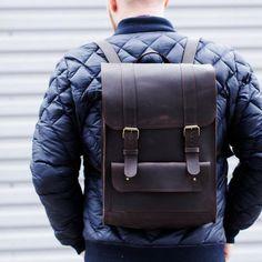 RucksackLeather BackpackCollege RucksackLaptop BackpackHipster BackpackBrown backpackMens backpackCity backpackMen leather backpack by PandaUA Unique Backpacks, Brown Backpacks, Hipster Backpack, Rucksack Backpack, Leather Backpack For Men, Leather Men, Leather Bags, Backpack Pattern, Men's Fashion