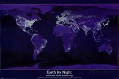 Earth by Night Pôsteres na AllPosters.com.br