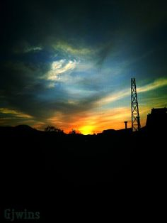 A good day to all   — #andrography #sunset #clouds #sky #bluesky #blue #yellow #sun #streamzoo #photography • MyajaTani on Streamzoo