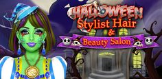 Show your #FashionSkills in this #HalloweenStylistHairBeauty #SalonGame and give her #AttractiveHairstyle for a #HalloweenParty. Free Halloween Games, Fashion Games For Girls, Girl Makeover, Girl Face Painting, Nail Art Salon, Hair And Beauty Salon, Halloween Fashion, Hair Highlights, Salons