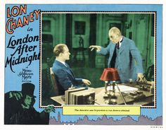 Lobby card for the 1927 silent film London After Midnight. The film is lost.