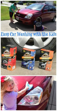 Get the kids to help w/the car wash and make it family fun!! See how easy it is with Armor All - no water, no mess, no bucket! Find them at /walmart/! #ad #pmedia #LessTimeMoreShine