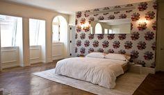 Bedroom by Nicole Fuller Interiors  #Bed #Wallpaper