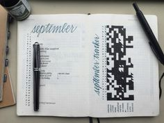 Elena's @mightierthan Bullet Journal Monthly Log