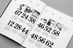 Contents page spread - The Leighton Monogram Design