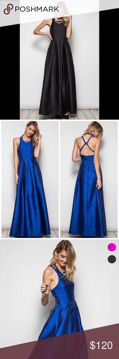Party maxi dress Crossed back maxi party dress Dresses Maxi
