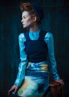 Brush Strokes for The Claw Fashion Book Model: Petra Hegedus@ Oui Management Photo: Alice Berg Style: Aurore Donguy  MUA: Meyloo Hair: Sandra Yazoue Post-production: Sofia Zasheva