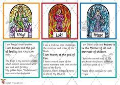 Teacher's Pet - Viking God Matching Cards - Premium Printable Classroom Activities and Games - EYFS, KS1, KS2, vikings, thor, gods, odin