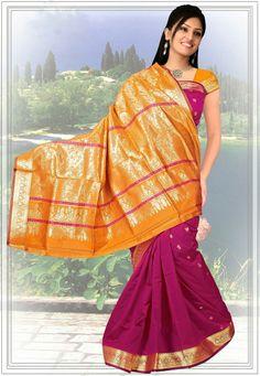 Pink Color Designer Silk Saree.Grab The Second Look In This Elegant Attire For This Season