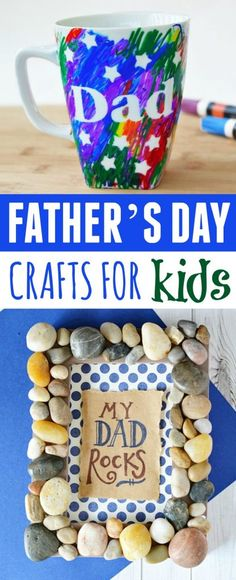 Father's Day is fast approaching and that means it's time to get crafting. These Father's Day Crafts For Kids would be great ideas for your kids to make for their dad on Father's Day! Dad Crafts, Diy Father's Day Crafts, Crafts For Teens To Make, Father's Day Diy, Gifts For Kids, Summer Crafts, Fathersday Crafts, Blue Food Coloring, How To Eat Better