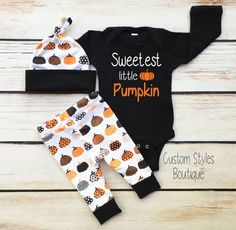 Baby Boys First Halloween Outfit Black Infant Bodysuit