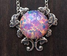 Light Fire Opal Necklace by robinhoodcouture on Etsy, $28.00