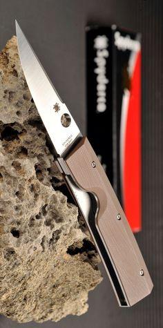 Spyderco Nilakka G-10 Plain Edge EDC Folding Pocket Knife, CPM S30V full-flat-ground blade