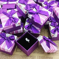 Wholesale New 24pcs Lot Jewellery Fashion Rings & Earrings Gift Box 740