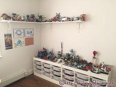 レゴテーブルの上にイケアのウォールシェルフを取り付けてみたら、部屋の広さはそのままに、レゴを飾るスペースがばっちり確保できました。詳しくはHPにて:http://happybanana.info/?p=4652