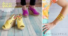 Cents of Style: Summer Wedge Sandals & Bracelet for $22 shipped (today only!)