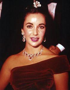 Elizabeth Taylor's ruby & diamond jewelry