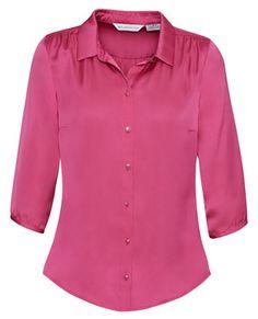 Biz Collection Women's Shimmer Blouse Corporate Uniforms, Corporate Wear, Polyester Satin, Satin Fabric, Paris Dresses, Trendy Tops, Shirt Dress, Blouse, Casual Wear